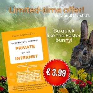Werbegrafik zum Launch Sale mit Buchcover und Osterhase